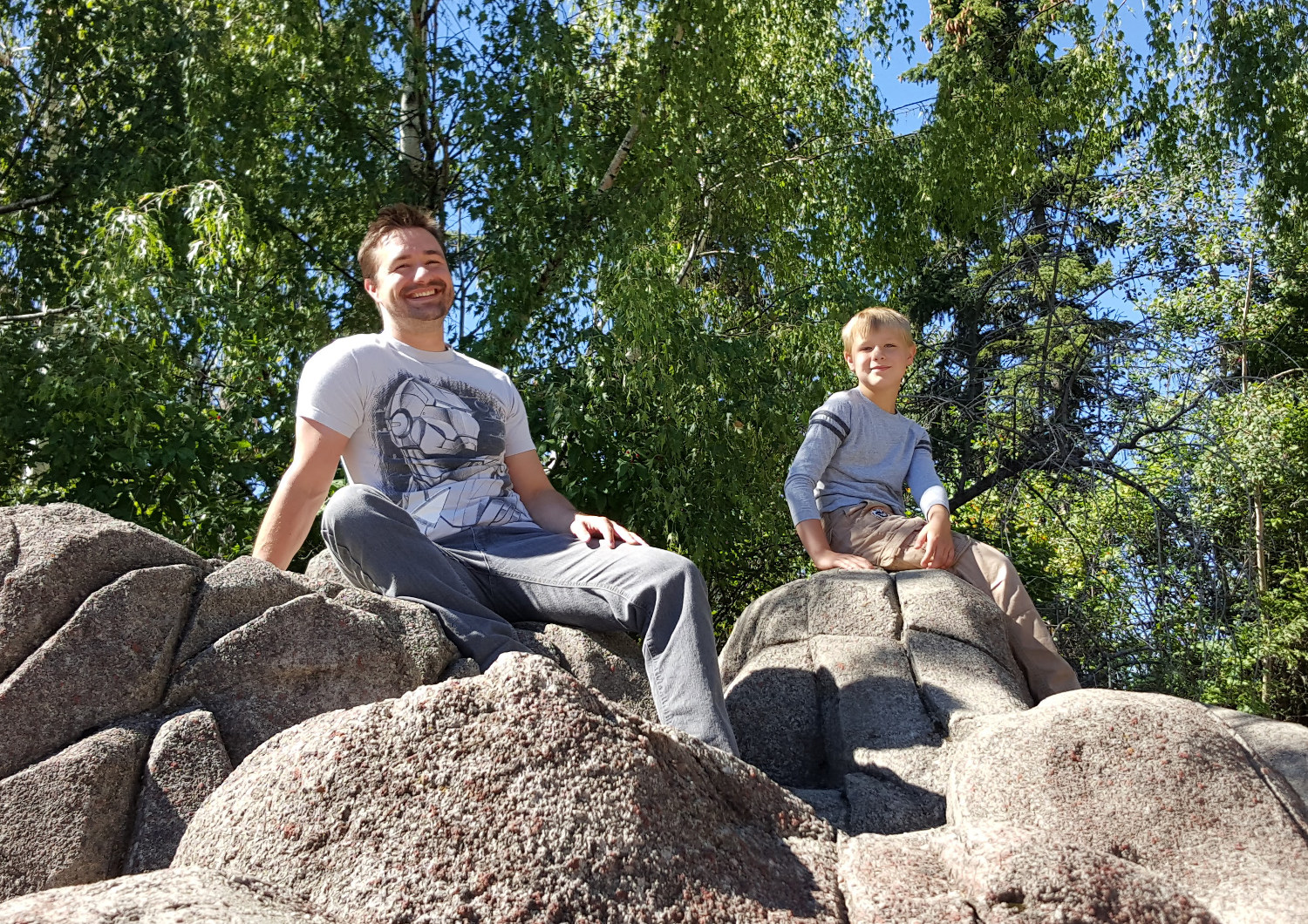 This is me and my son at the Calgary Zoo, contemplating the world of SEO and creating more value for the world