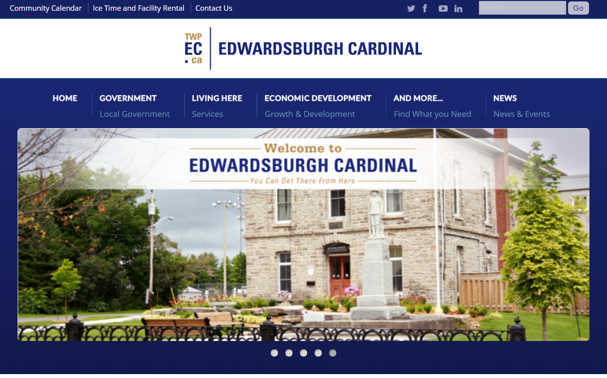 """Small Town """"Edwardsburgh Cardinal"""" Needs a New Website and App Developed ($15k+)"""