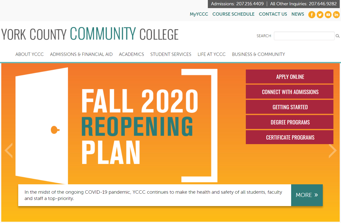 York County Community College Needs a Website Redesign, New UX and Integrations ($25k – $50k+)
