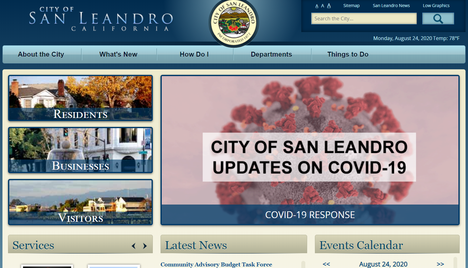 The City of San Leandro is Seeking a Website Redesign and New CMS ($60k – $180k)