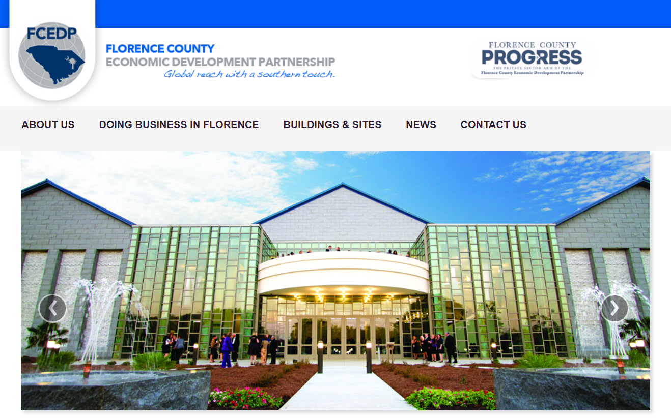 The Florence County Economic Development Partnership is Looking for a New Website (Est. $15k – $25k)
