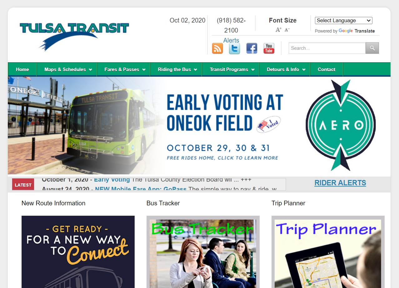 Tulsa Transit Website Redesign for Web Design Agencies and Web Vendors