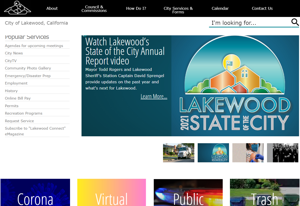 City of Lakewood is looking for a website redesign (Est. $50k – $150k)