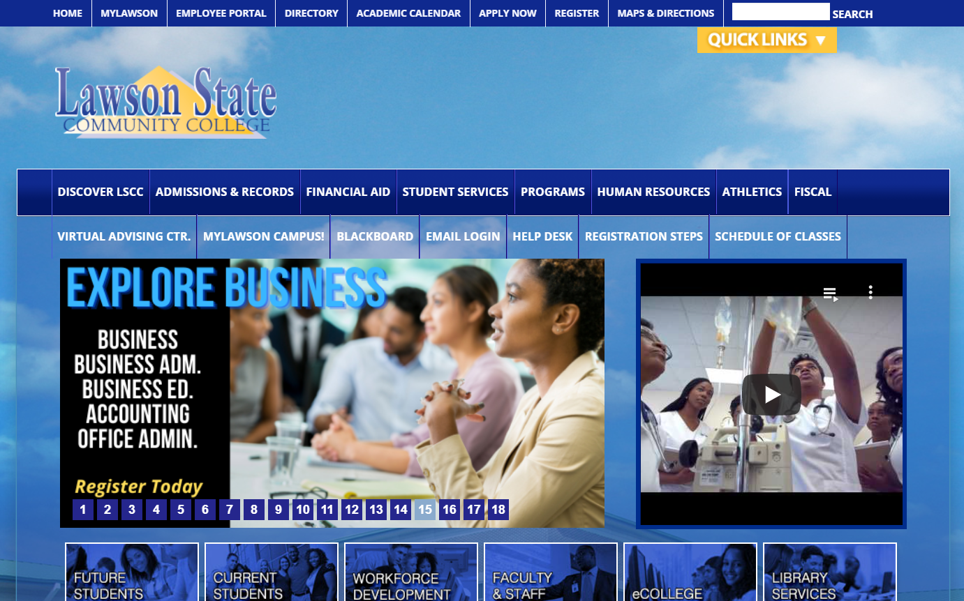 Lawson State Community College is looking for a website redesign (est. $15k – $150k*)
