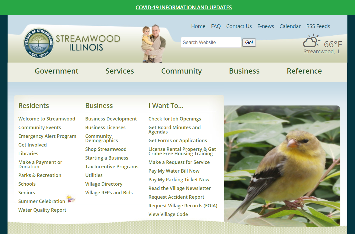 Village of Streamwood is looking for Website Redesign and Marketing (Est. $20k – $200k*)