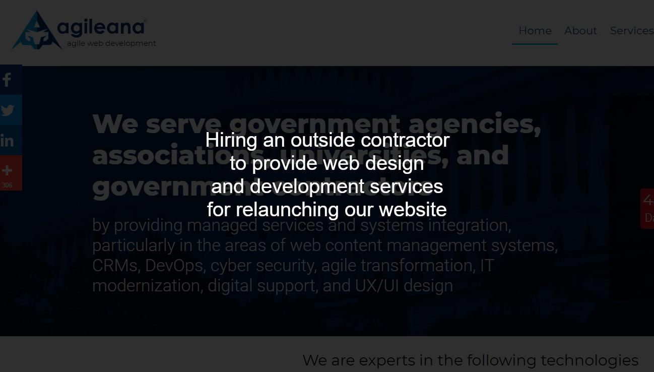 Agileana is seeking a new website (Est. $5k – $15k*)